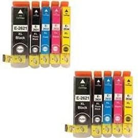Pack De 10 Cartouches Epson Compatibles Expression , Premium Xp-810 -Epson 2 T2631+ 2 T2621 Noir 2 T2632 Cyan - 2 T2633 Magenta - 2 T2634 Yellow