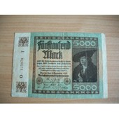 Allemagne.Tr�s Beau Billet De 5000 Mark 1922.