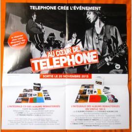 AU COEUR DE TELEPHONE POSTER/PLAN MéDIA/BON DE PRéCO FORMAT 60X58