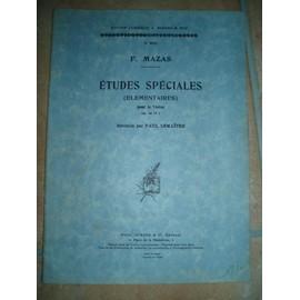 ETUDES SPECIALES (ELEMENTAIRES) POUR VIOLON OP 36 N°1