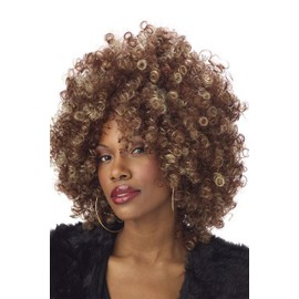 Perruque Afro Blond Brun