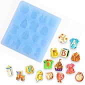 Moule Silicone Baby Boy Girl Accessoires B�b� P�te � Sucre Chocolat Fimo R�sine