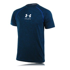 Under Armour Run Twist Hommes Bleu �vacuant Manche Courte T Shirt Tee Top Haut