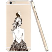 Coque Transparente Gel Souple Incassable Avec Impression De Motif Fantaisie (Iphone 6 / 6s , Robe De Soir�e)
