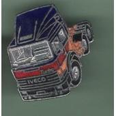 Pin's Camion Trucks Tracteur Semi Remorque Iveco Turbo Ref 911