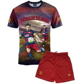 Ensemble Maillot + Short Bar�a - Lionel Messi - Collection Officielle Fc Barcelone - Taille Enfant Gar�on