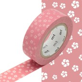 Masking Tape Mt - 15 Mm - Fleur Rose - Masking Tape (Mt)