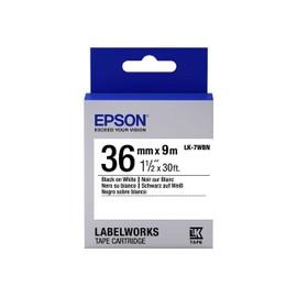 Epson Labelworks Lk-7wbn - Bande D'�tiquettes - Noir Sur Blanc - Rouleau (3,6 Cm X 9 M) 1 Rouleau(X) - Pour Labelworks Lw-1000p, Lw-900p
