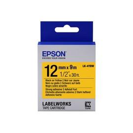 Epson Labelworks Lk-4ybw - Bande D'�tiquettes - Noir Sur Jaune - Rouleau (1,2 Cm X 9 M) 1 Rouleau(X) - Pour Labelworks Lw-1000p, Lw-300l, Lw-400, Lw-400l, Lw-400vp, Lw-600p, Lw-700, Lw-900p