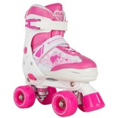 Roller Quad Patin Complet Pulse Junior Quad Pink/White - Taille 25.5-29