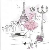 Lot De 2 Serviettes D�co Papier: La Parisienne En Ville