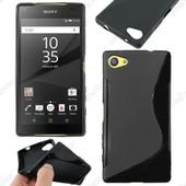 Ebeststar � Housse Etui Coque Silicone Gel Motif S-Line Protection Souple Pour Sony Xperia Z5 Compact, Couleur Noir + 1 Film Protection D'�cran + Lingette