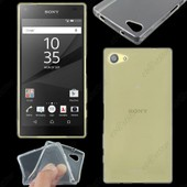 Ebeststar � Housse Etui Coque Silicone Gel Tpu Souple Ultra Fine 0,5mm Pour Sony Xperia Z5 Compact, Couleur Transparent + 1 Film Protection D'�cran + Lingette