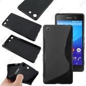 Ebeststar � Pour Sony Xperia M5, M5 Dual Coque S-Line Silicone Gel Motif Vague Housse Etui Protection Souple, Couleur Noir + 1 Film Protection D'�cran + Lingette