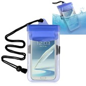Insten� Housse �tui Pochette De Protection �tanche Waterproof En Pvc Pour Iphone 4/4s/5/5c/5s/6/6s/6 Plus/6s Plus, Samsung Galaxy S5/S4 Mini/Note 4 [R�sistant � L'eau: 3 M�tres], Bleu/Transparent
