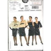 Patron Burda Femme Ensemble Coordonn�e De Gala, Soir�e Nouvel An, 7985 *, Taille 32.34.36.38.40.42.44