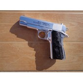 Colt 1911 Airsoftgun Aspect Chrom� - Commander / Series'70 Government Model - A Air Comprim� 6mm Bullet 0,4 Joules