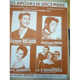 Les amours de décembre Gilbert Bécaud