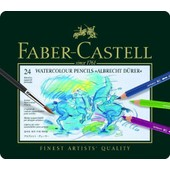 Faber-Castell Boite M�tal De 24 Crayons Aquarellables