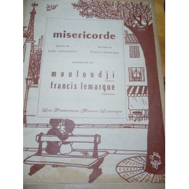 MISERICORDE Mouloudji Francis lemarque