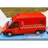 Ford Transit Van Tole Sapeur Pompier Var Cararama 1/43 Six Four Les Plages