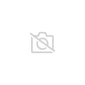 Lit Mezzanine 90x200cm Avec �chelle Toboggan En Bois Laqu� Blanc Et Toile Bleu Incluse Lit06016