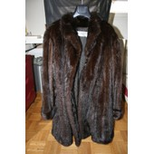 Manteau Fourrure En Vison Marron