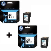 2 Cartouches Hp N� 301 Noire (Ch561ee)