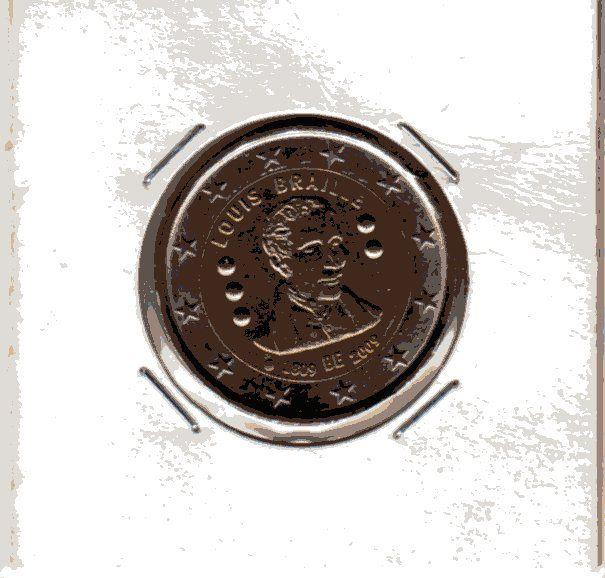 2 Euros Comm�moratif 2009 Belgique Braille