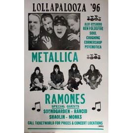 RAMONES METALLICA affiche de concert