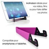 Support Universel Pliable De Poche Couleur Rose Pour Tablette Et Smartphone Polaroid Infinite, Rainbow, Executive, Diamond