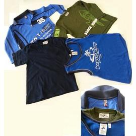 Polo Vert Power Kids + Polo Bleu � Col Tbc + D�bardeur Bleu Polomino + Tee-Shirt Marin