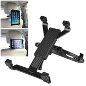 Insten� Support Fixation Appuie-T�te Si�ge Arri�re De Voiture V�hicule Automobile Rotatif 360� Pour Tablette Apple Ipad 1/2/3/4, Ipad Air 1 Et 2 Ipad Mini 1/2/3 Bras R�glable Clip Maximum 25,5 Cm Noir