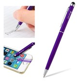 Insten� 2-En-1 Stylet Violet Avec Stylo � Bille Pour �cran Tactile T�l�phone Iphone 4/4s/5/5c/5s/6/6s/6 Plus/6s Plus Ipad Air/Mini Ipod Touch 5 Et 6 Samsung Galaxy S4/S5/S6/S6 Edge Htc Lg Sony Xperia