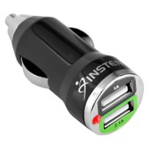 Insten� Mini Chargeur Voiture Allume-Cigare Universel Noir Double Port Usb 2a Pour Iphone 4/5/6/6s/6 Plus/6s Plus Ipad Mini/Pro Ipod Touch Mp3 Samsung Galaxy S5/S6/S7/S7 Edge/Note 4 Htc Lg Sony Xperia