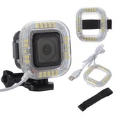 LED Flash Light Ring for Sport Camera GoPro Hero 4 Session Waterproof Case OS471