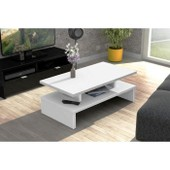 After Table Basse 84 Cm Blanc