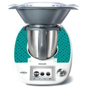 Stickers Thermomix Tm 5 Turquoise A Pois Ref: Thermo-Tm5-163