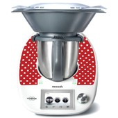 Stickers Thermomix Tm 5 Rouge � Pois Ref: Thermo-Tm5-076
