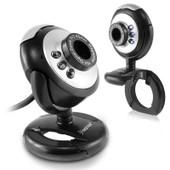 Insten� Webcam Cam�ra 6 Leds Digitale Usb Vision Nocturne Avec Micro Int�gr�, 16 M�ga Pixels Pour Ordinateur Pc Portable Conf�rence Vid�o Internet - Noir/Argent�
