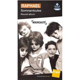 PLV 14x25cm cartonnée rigide RAPHAEL somnanbules / magasins FNAC