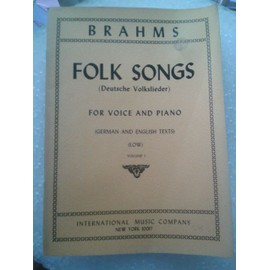 Brahms Folk Songs for voice and piano Low vol 1