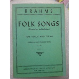 Brahms Folk Songs for voice and piano Low vol 2
