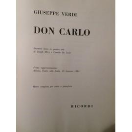 Don Carlo 4 atti canto e pianoforte