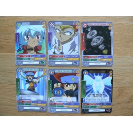 Beyblade Battle Card Collection. Lot De 6 Cartes Diff�rentes Dont 1 Carte Brillante