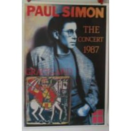 Simon Paul - 1987 - AFFICHE MUSIQUE / CONCERT / POSTER