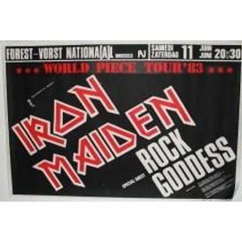 Iron Maiden - B - 1983 - AFFICHE MUSIQUE / CONCERT / POSTER