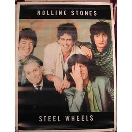 Rolling Stones - Steel Wheels - AFFICHE MUSIQUE / CONCERT / POSTER