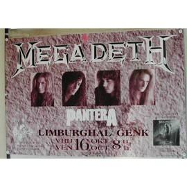 Megadeth - AFFICHE MUSIQUE / CONCERT / POSTER