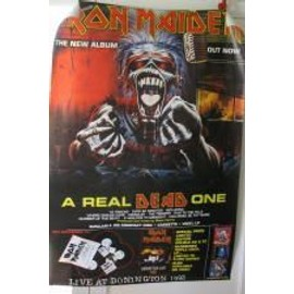 Iron Maiden - a real dead one - AFFICHE MUSIQUE / CONCERT / POSTER